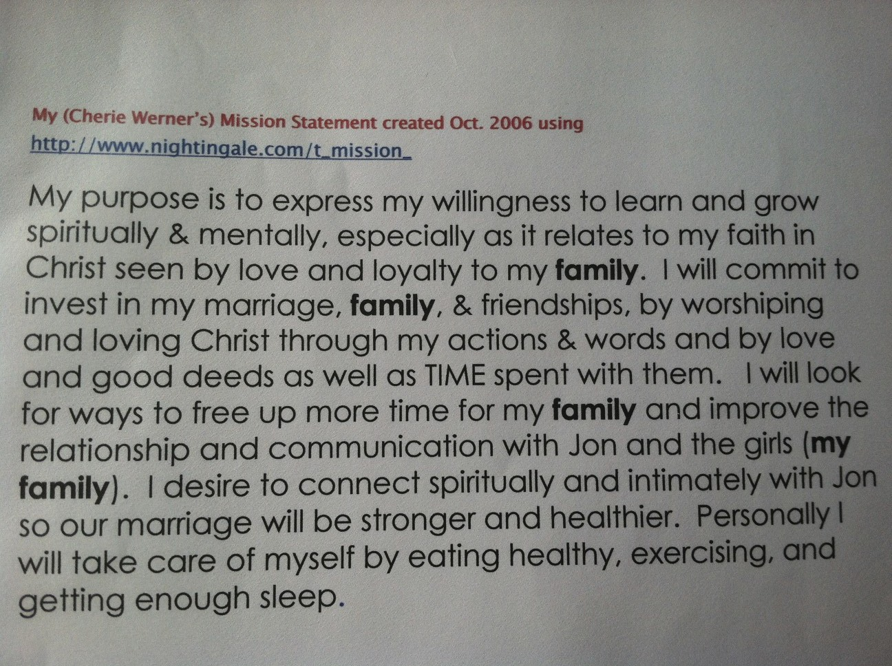 my personal mission statement as a christian order paper online thewerners org
